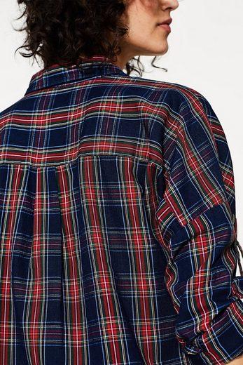 Edc By Esprit Blouse Boxy À Carreaux, 100% Coton