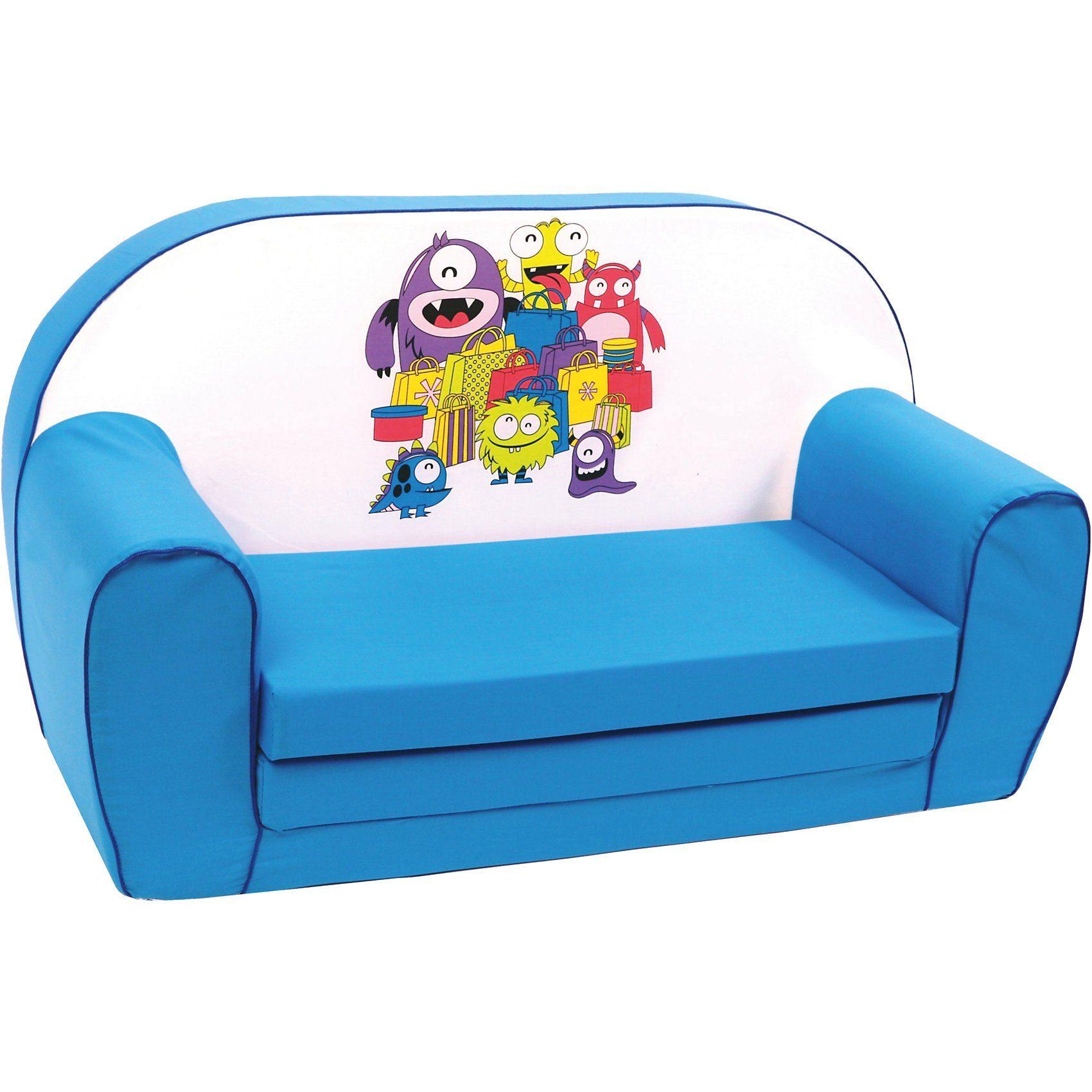 Knorrbaby Mini-Schlafsofa Monster, blau