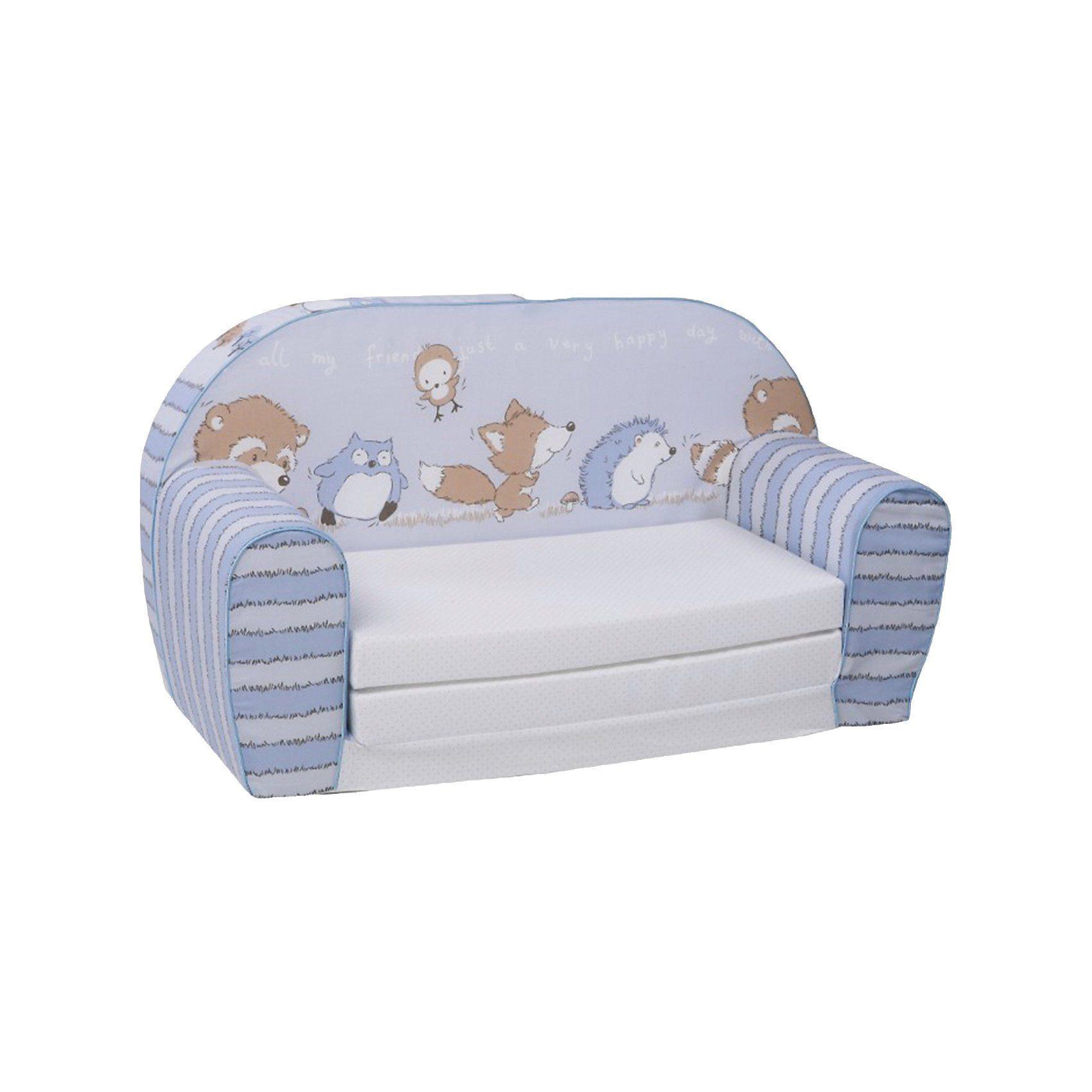 Knorrbaby Mini-Schlafsofa Spielzimmer, blau