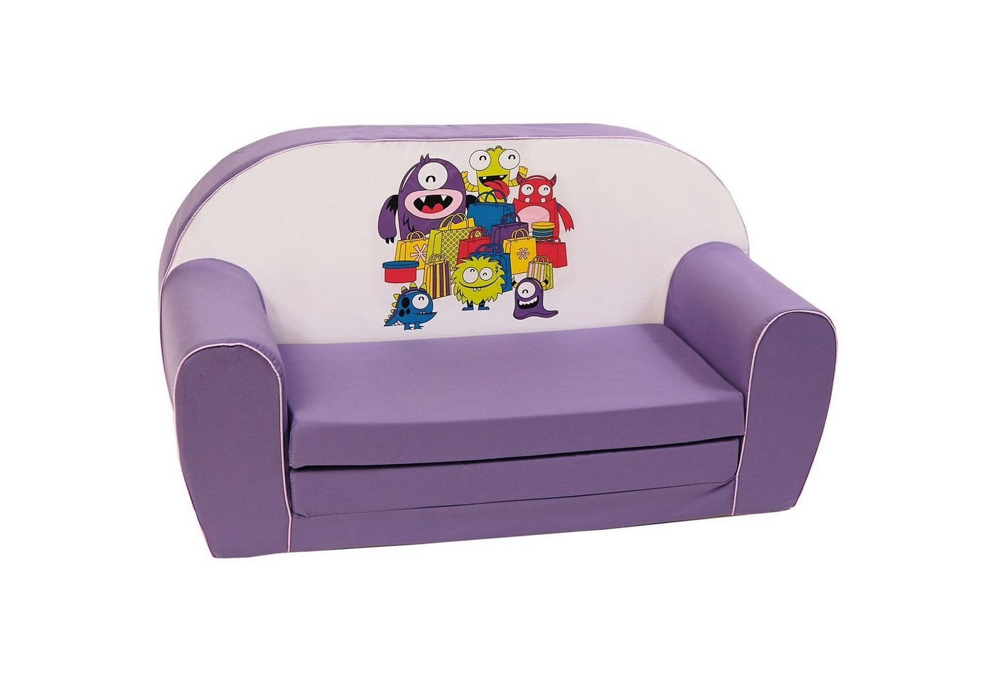 Knorrbaby Mini-Schlafsofa Monster, lila | Kinderzimmer > Kindersessel & Kindersofas | Lila | Knorrbaby