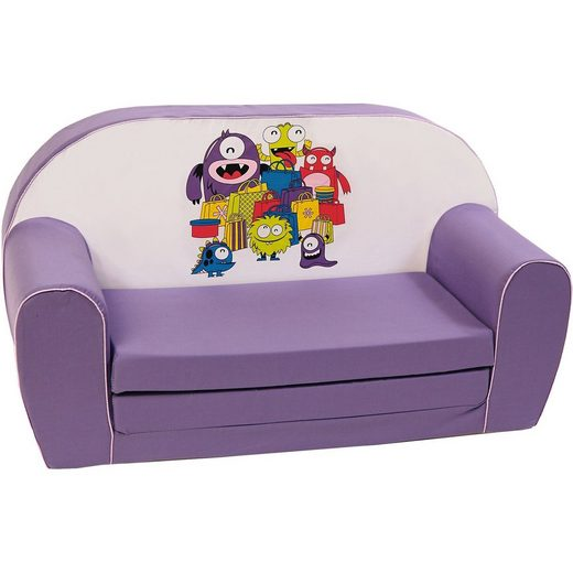 Knorrbaby Mini-Schlafsofa Monster, lila