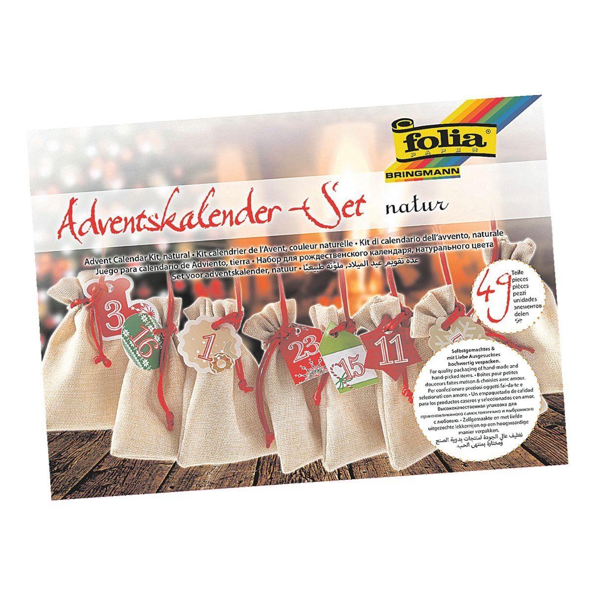 Folia Adventskalender-Set »natur«