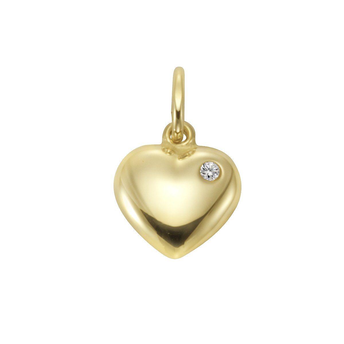 Firetti Anhänger »333/- Gelbgold Zirkonia Herz« | Schmuck > Halsketten > Herzketten | Gold | Firetti