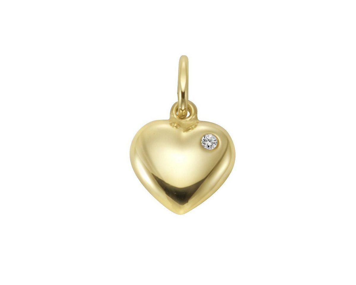 Firetti Anhänger »333/- Gelbgold Zirkonia Herz« | Schmuck > Halsketten > Herzketten | Gelb | Firetti