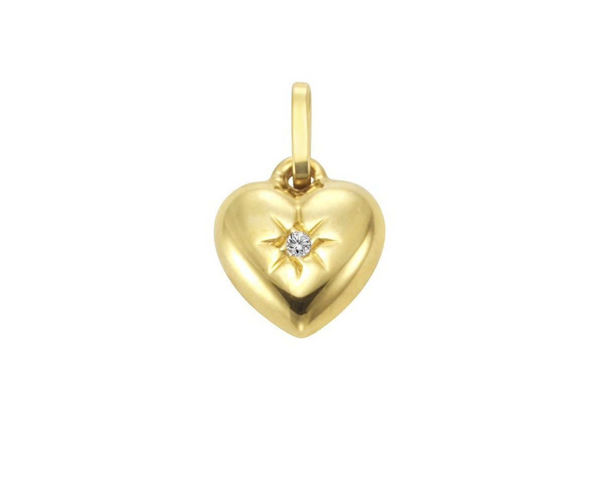 Firetti Anhänger »333/- Gelbgold Diamant Herz« | Schmuck > Halsketten > Herzketten | Gelb | Firetti