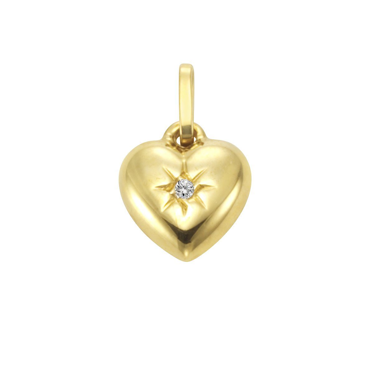 Firetti Anhänger »333/- Gelbgold Diamant Herz«