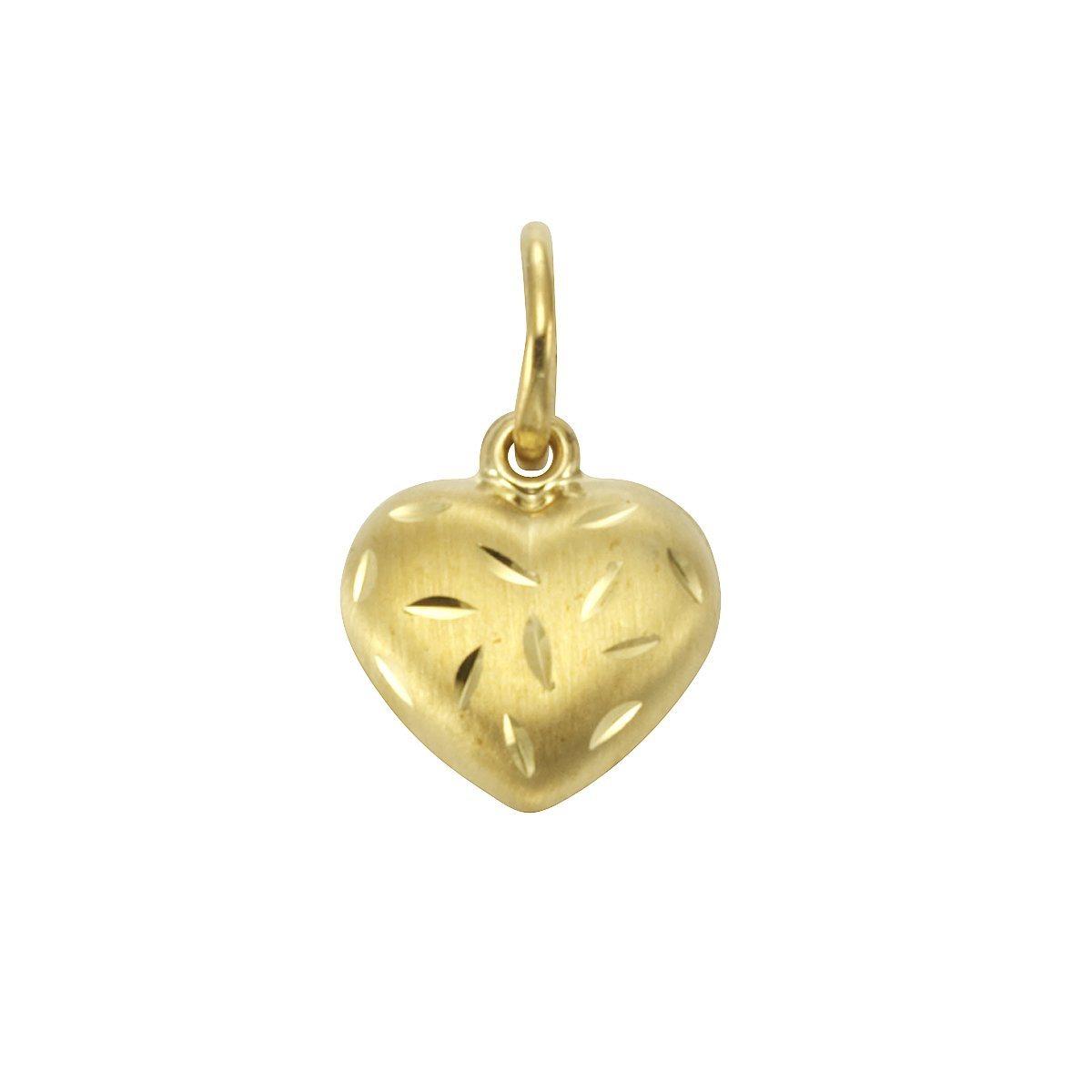 Firetti Anhänger »333/- Gelbgold Herz« | Schmuck > Halsketten > Herzketten | Matt - Gold | Firetti