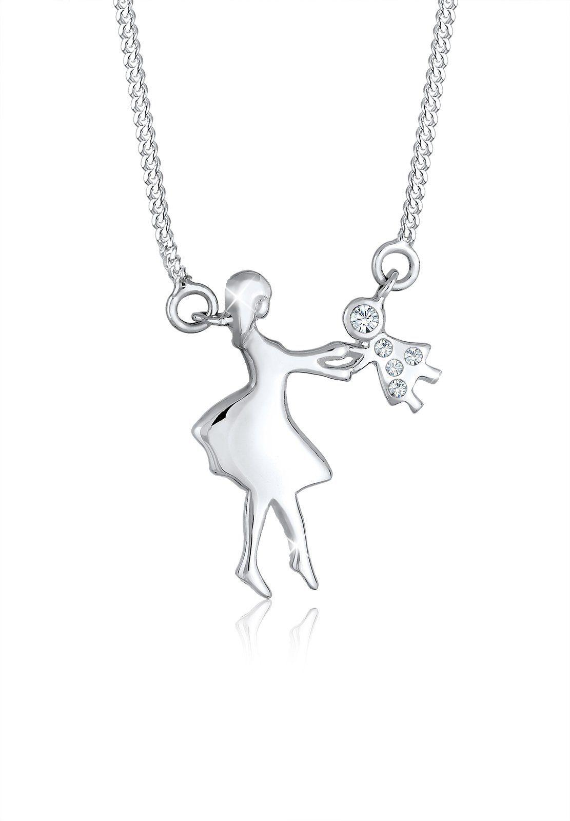 Elli Halskette »Mutter Kind Liebe Swarovski® Kristalle 925 Silber«