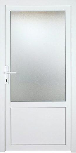 KM MEETH ZAUN GMBH Nebeneingangstür »K703P«, BxH: 108x208 cm cm, weiß, links