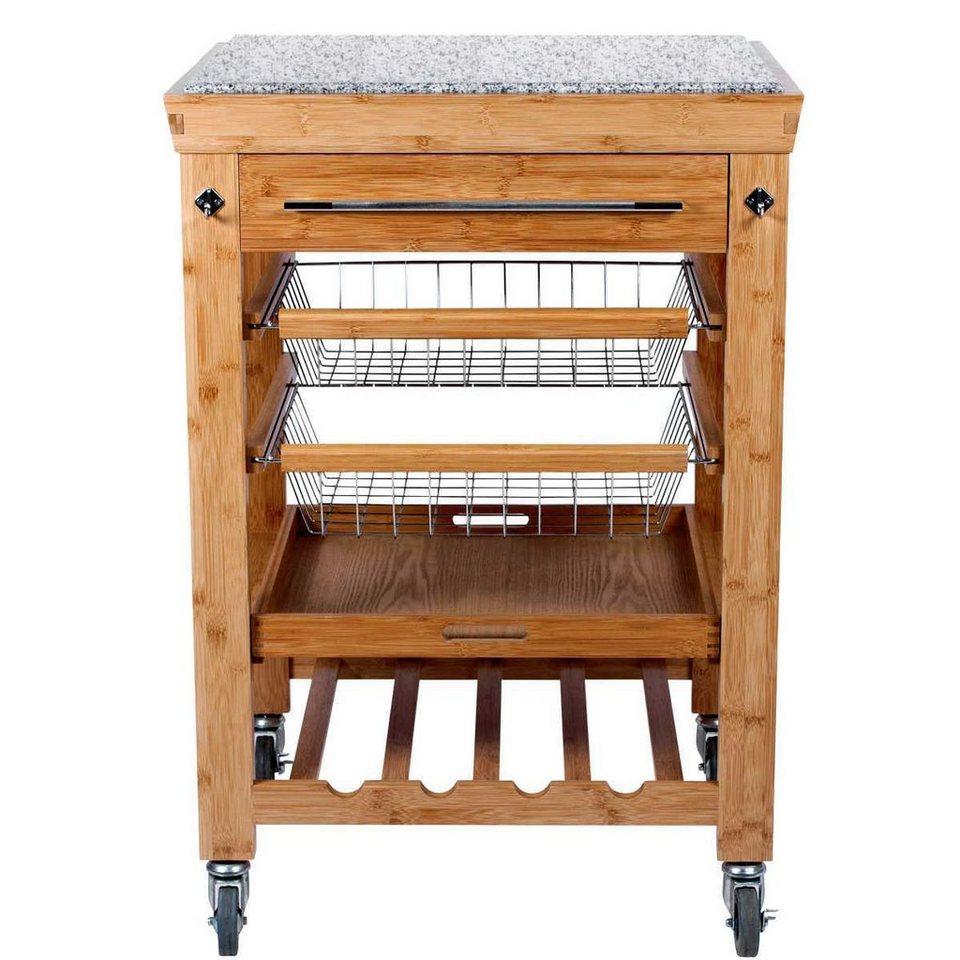 butlers rolling stone servierwagen mit granitarbeitsplatte online kaufen otto. Black Bedroom Furniture Sets. Home Design Ideas