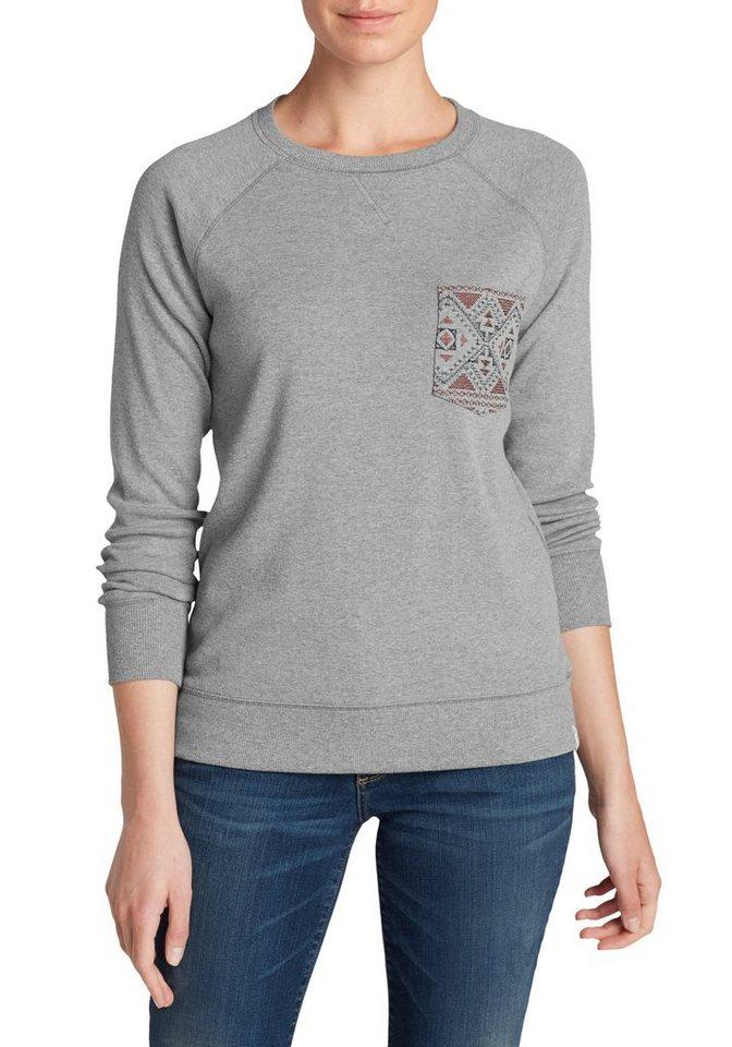 Damen Eddie Bauer  Sweatshirt Sweatshirt grau | 04057682015668