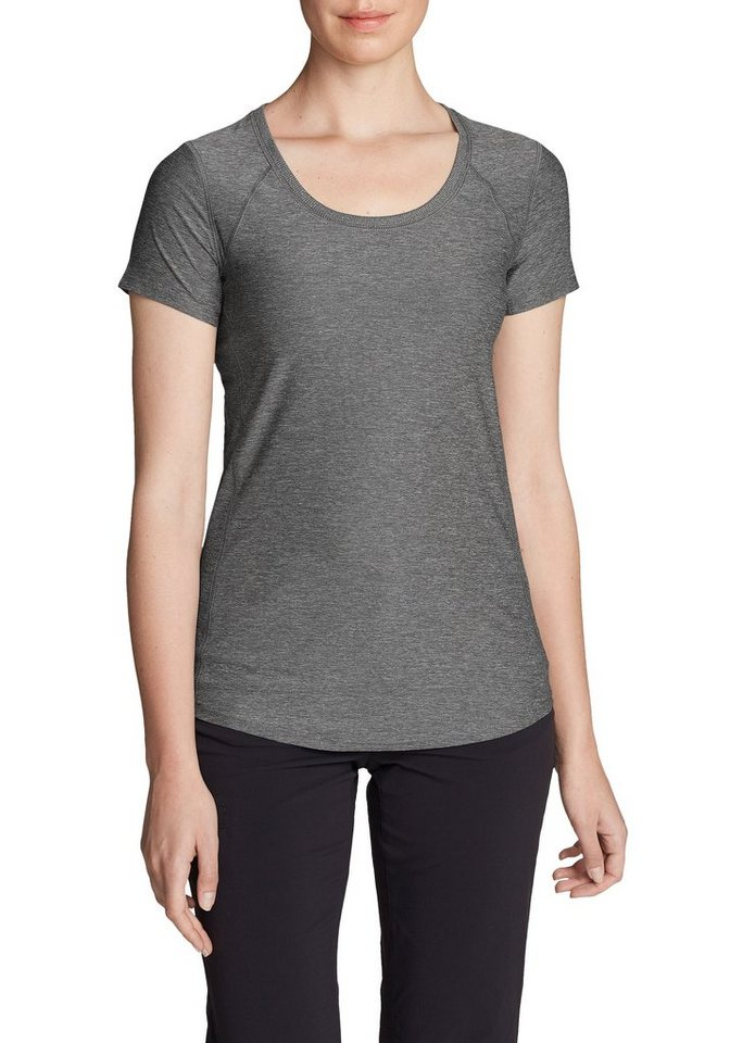 Damen Eddie Bauer  T-Shirt Infinity Shirt mit Rundhalsausschnitt – Kurzarm grau | 04057682158518