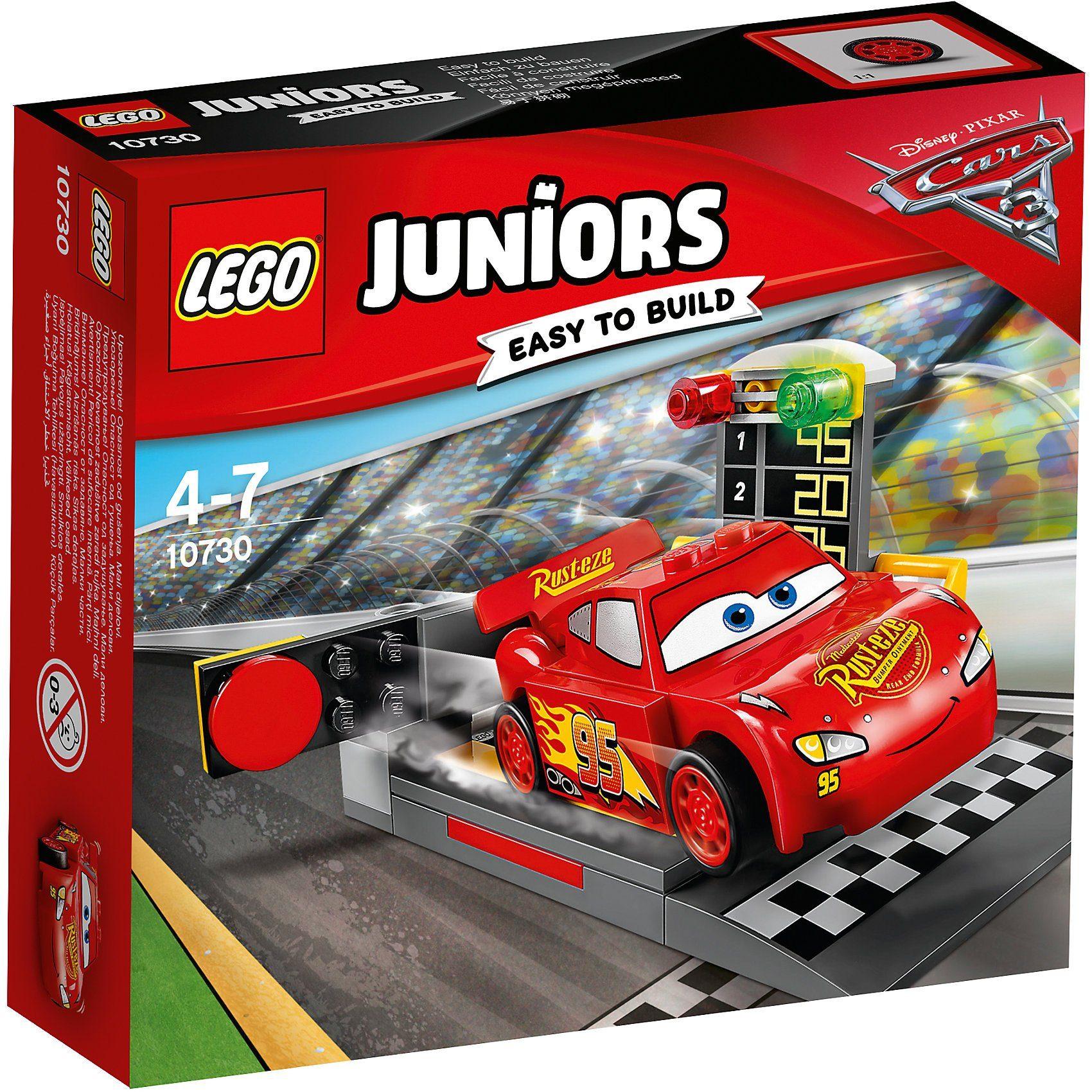 LEGO 10730 Juniors: CARS Lightning McQueens Beschleunigungsrampe