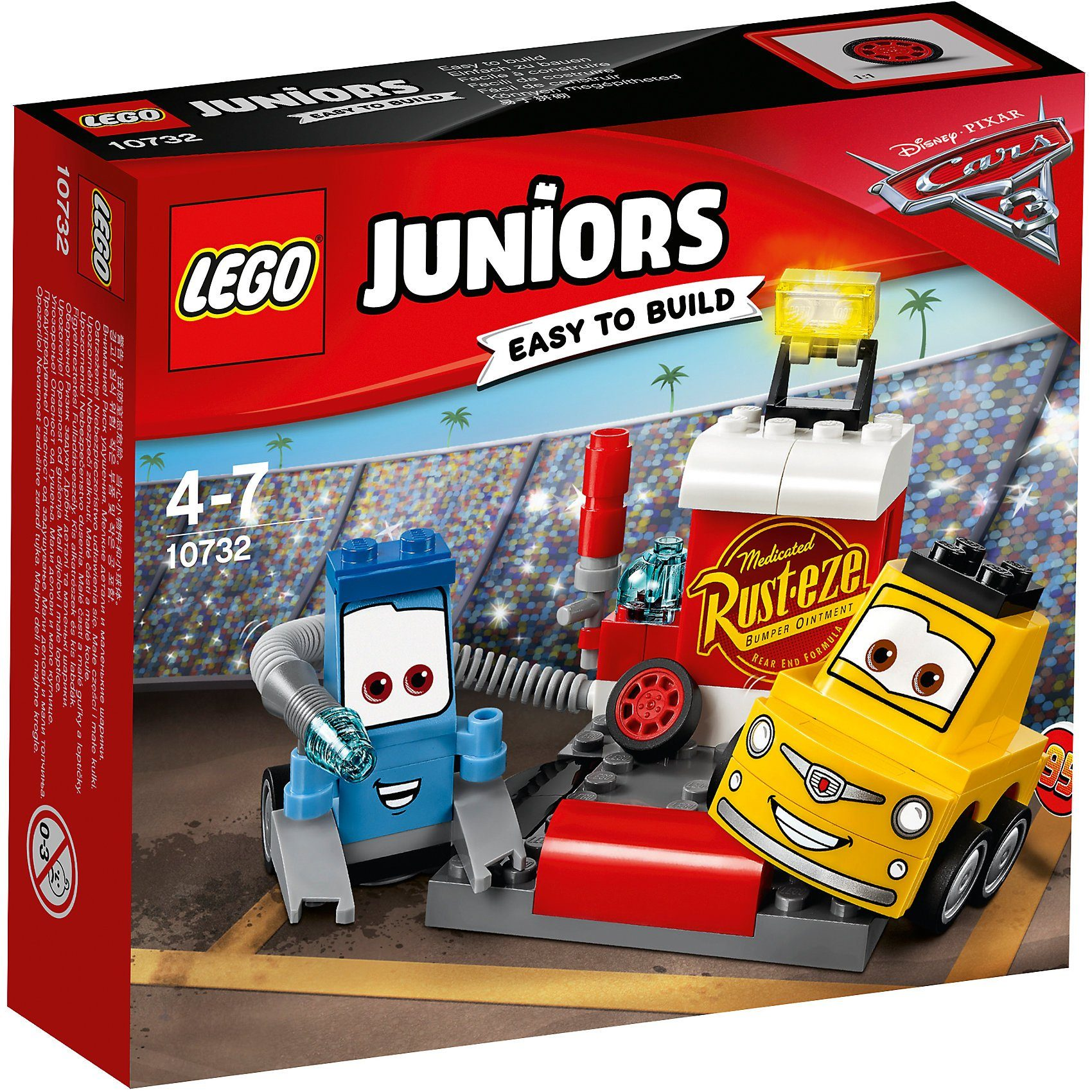 Lego® 10732 Juniors: CARS Guido und Luigis Pit Stopp