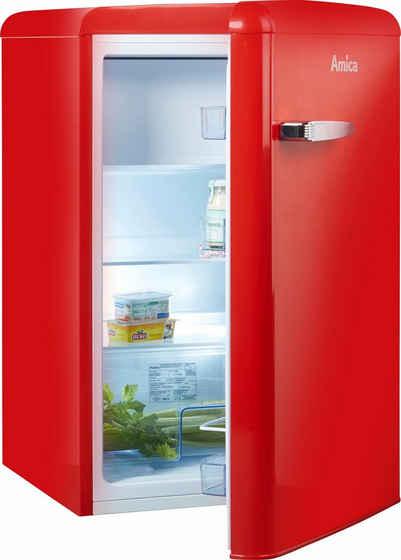 Amica Table Top Kühlschrank KS 15610 R, 86 cm hoch, 55 cm breit