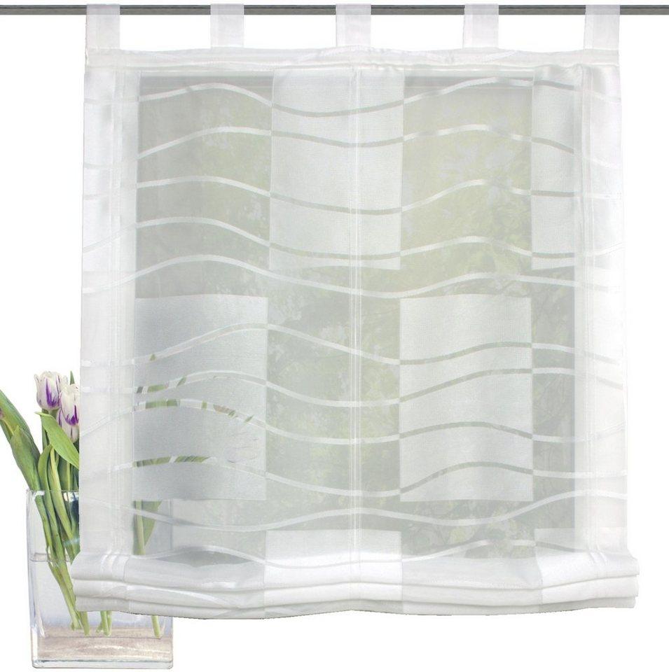 raffrollo schlaufen wei with raffrollo schlaufen wei raffrollo mit schlaufen weibeere cm with. Black Bedroom Furniture Sets. Home Design Ideas