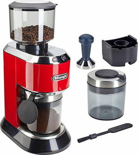 De'Longhi Kaffeemühle Dedica KG520.R, 150 W, Kegelmahlwerk, 350 g Bohnenbehälter