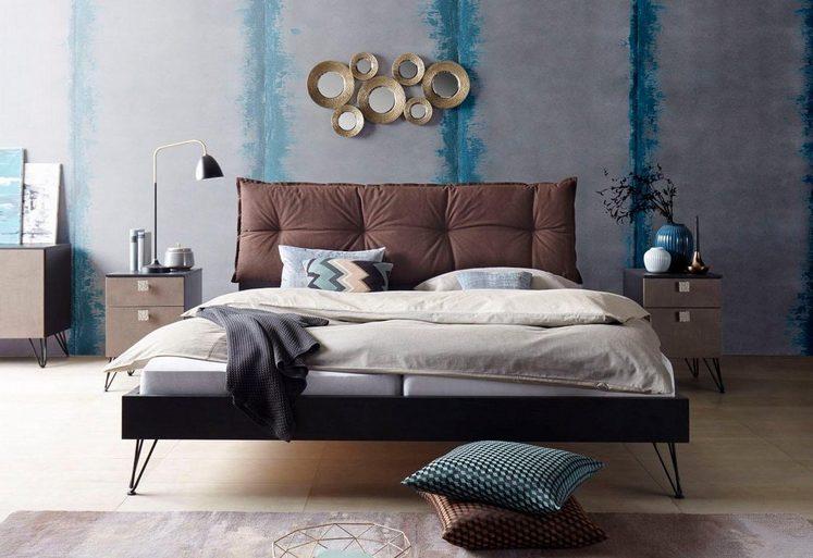 Inosign futonbett mit gepolstertem kopfteil kaufen otto for Einfache bettgestelle