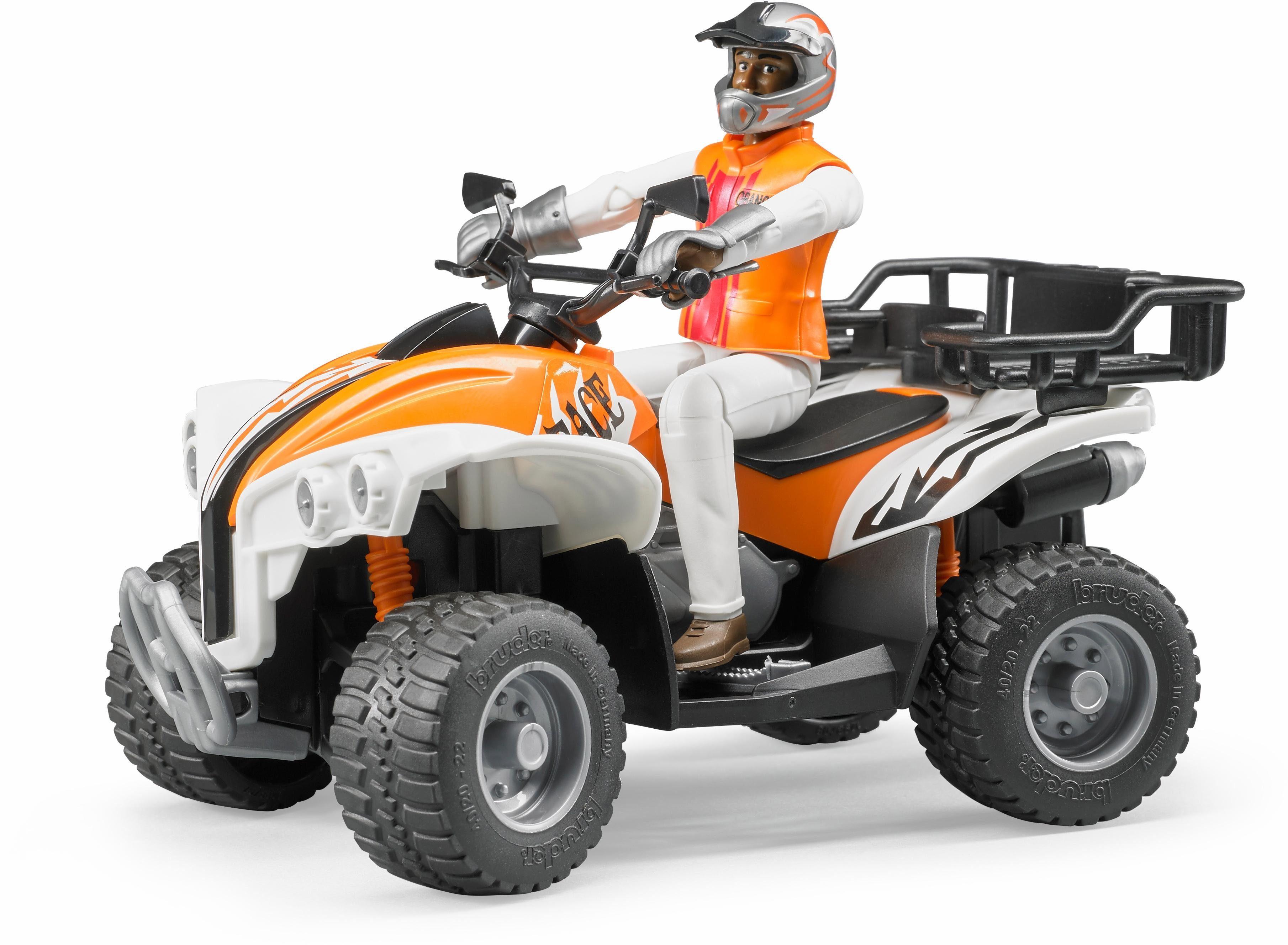bruder® Fahrzeug 63000, »Quad mit Fahrer (Kleidungsfarben gemischt sortiert)«
