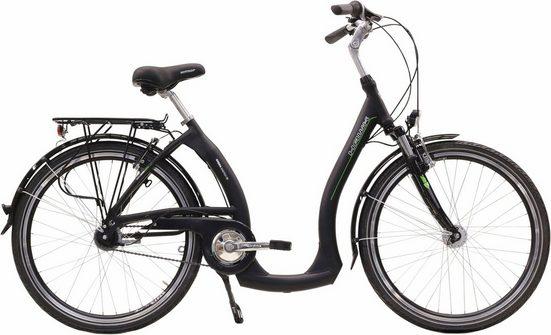 HAWK Bikes Cityrad »City Comfort«, 3 Gang Shimano Nexus Schaltwerk, Nabenschaltung
