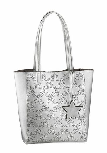 Tom Tailor Denim Shopper STELLA, mit Sternenprint
