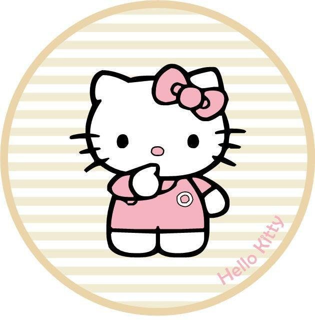 Kinderteppich »Hello Kitty 08«, Hello Kitty, rund, Höhe 8 mm