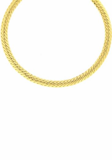Firetti Goldkette »Flachpanzerkettengliederung, 5,4 mm breit, glanz«