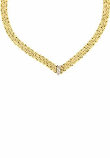 Firetti Goldkette, mit Zirkonia