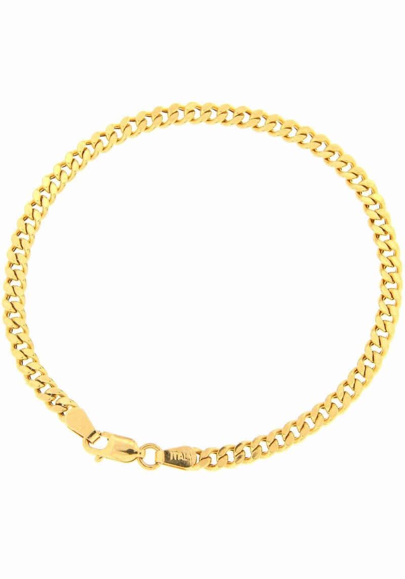 Firetti Panzerarmband »Diamantiert, Goldarmband, 3,6 mm breit«