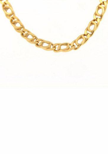 Firetti Goldarmband »Tigeraugenkettengliederung, Diamantiert, Glanz, 4,4 mm breit«