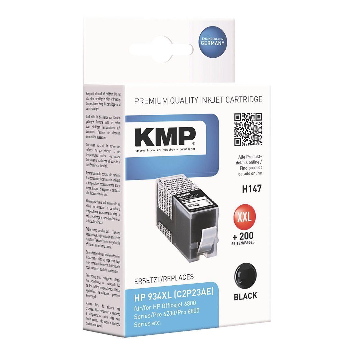 KMP Tintenpatrone ersetzt HP »C2P23AE« Nr. 934 XL