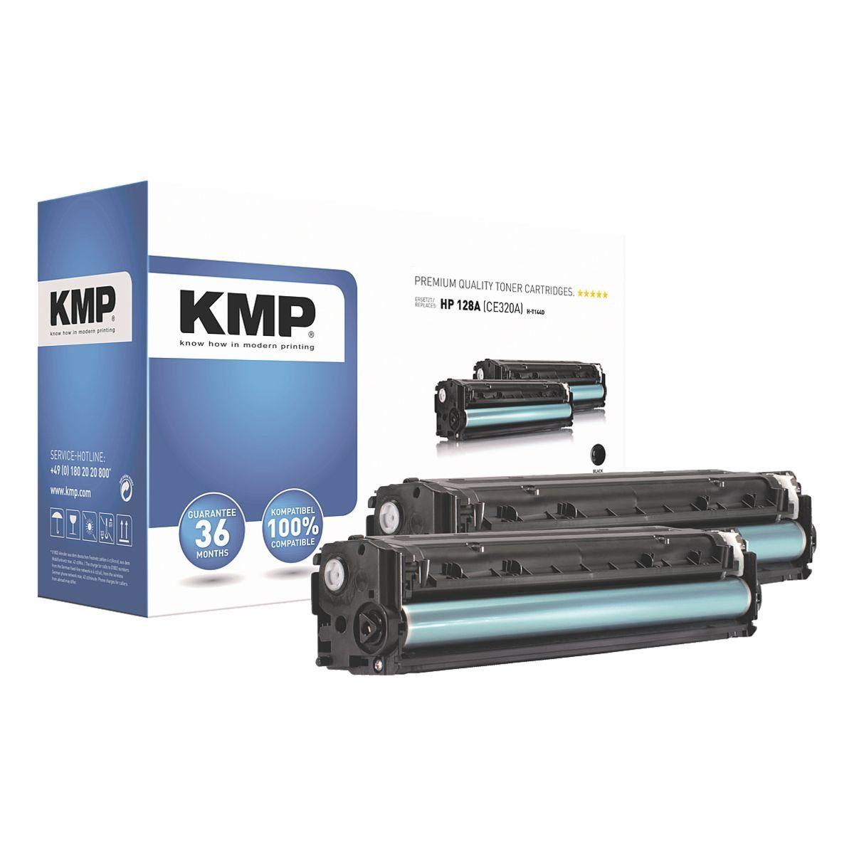 KMP 2er-Pack Toner ersetzt HP »CE320A« 128A