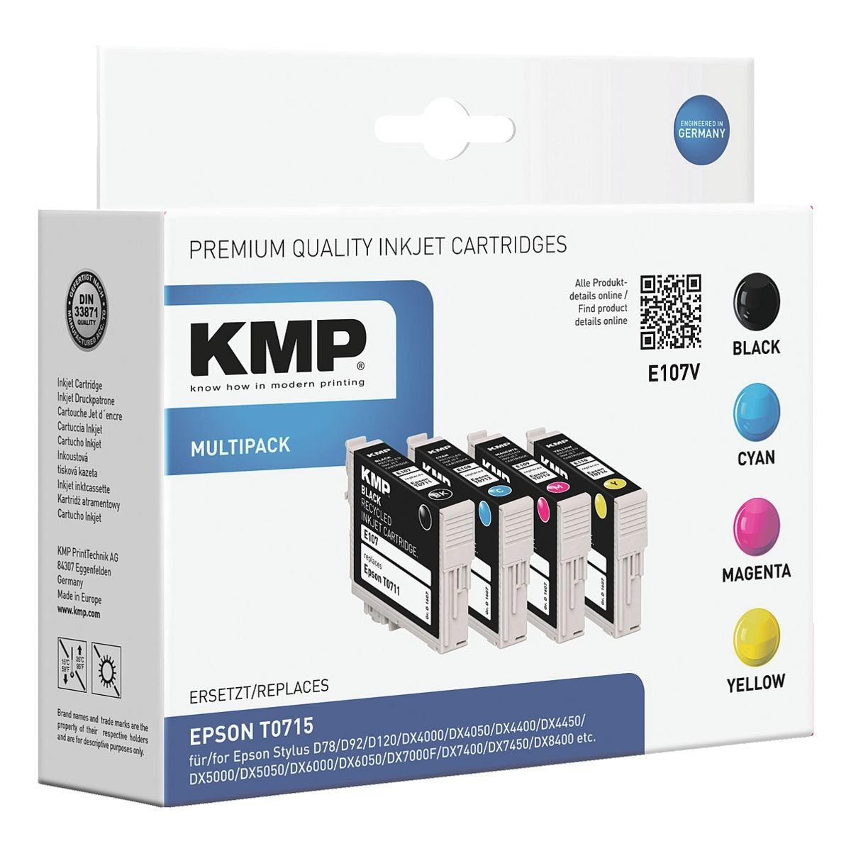 KMP Tintenpatronen-Set ersetzt Epson »T071540«