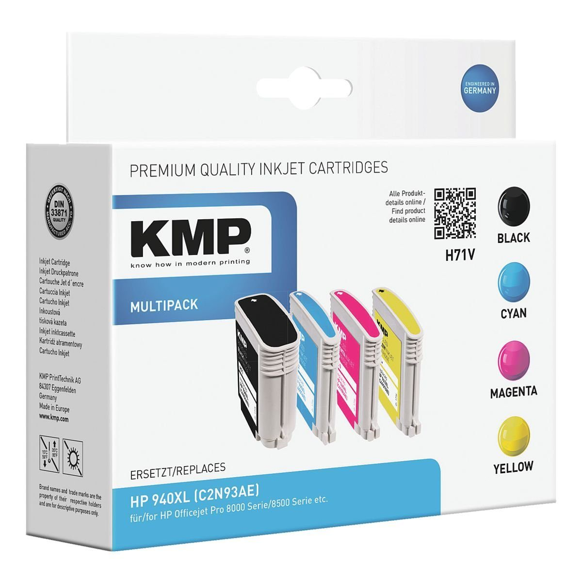 KMP Tintenpatronen-Set ersetzt HP »940XL«