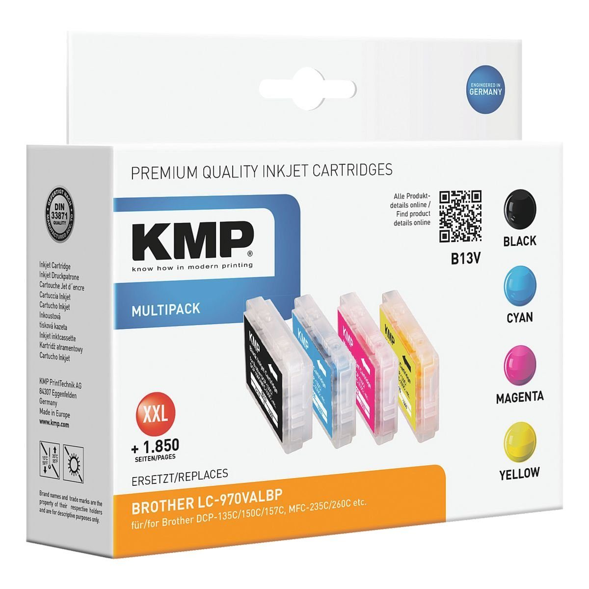 KMP Tintenpatronen-Set ersetzt Brother »LC-970BK/M/C/Y«