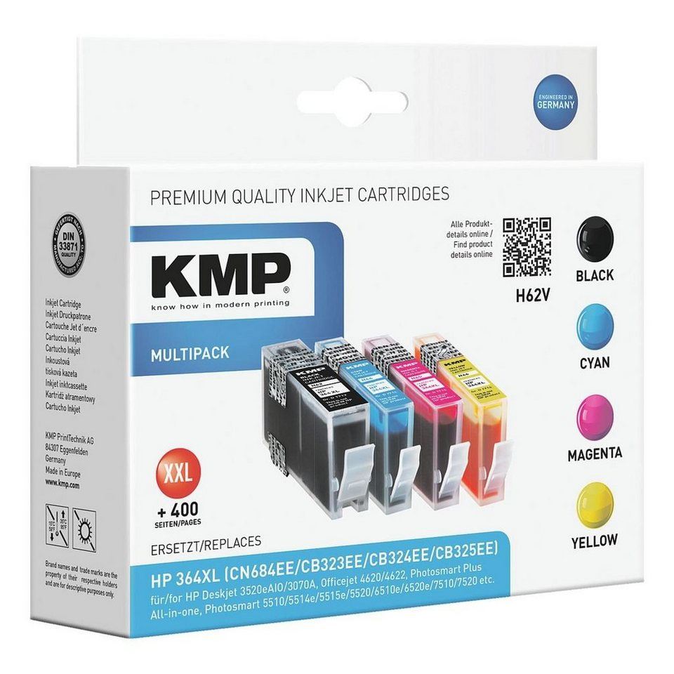 kmp tintenpatronen set ersetzt hp sm596ee nr 364 xl. Black Bedroom Furniture Sets. Home Design Ideas