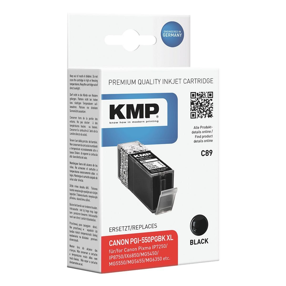KMP Tintenpatrone ersetzt Canon »PGI-550 PGBK XL«