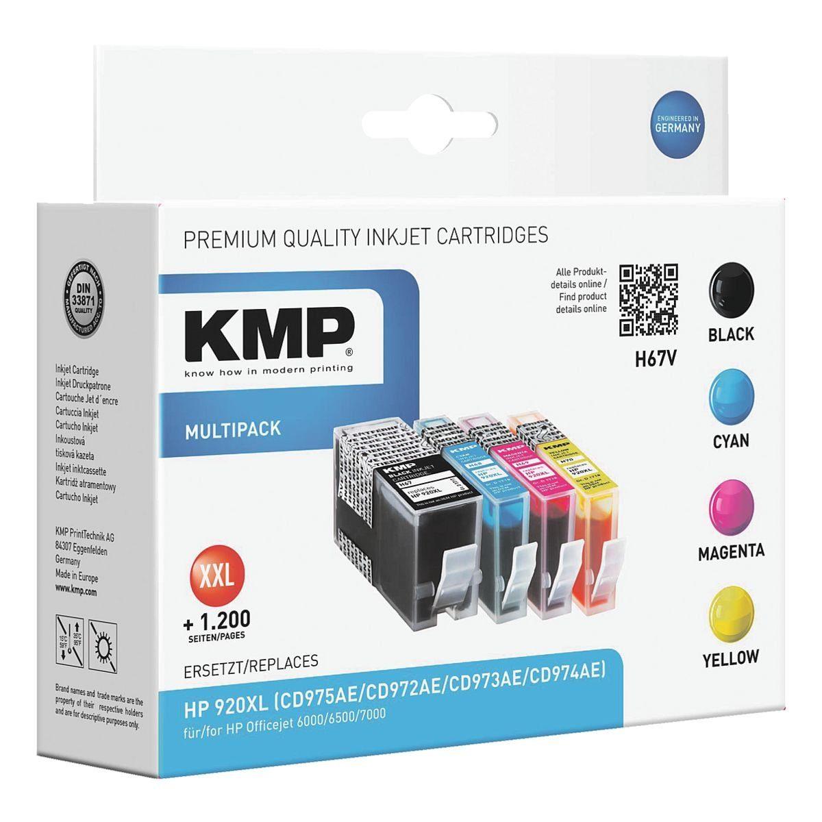 KMP Tintenpatronen-Set ersetzt HP »CH081A« Nr. 920 XL