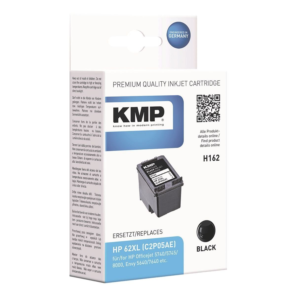 KMP Tintenpatrone ersetzt HP »C2P05AE« 62XL