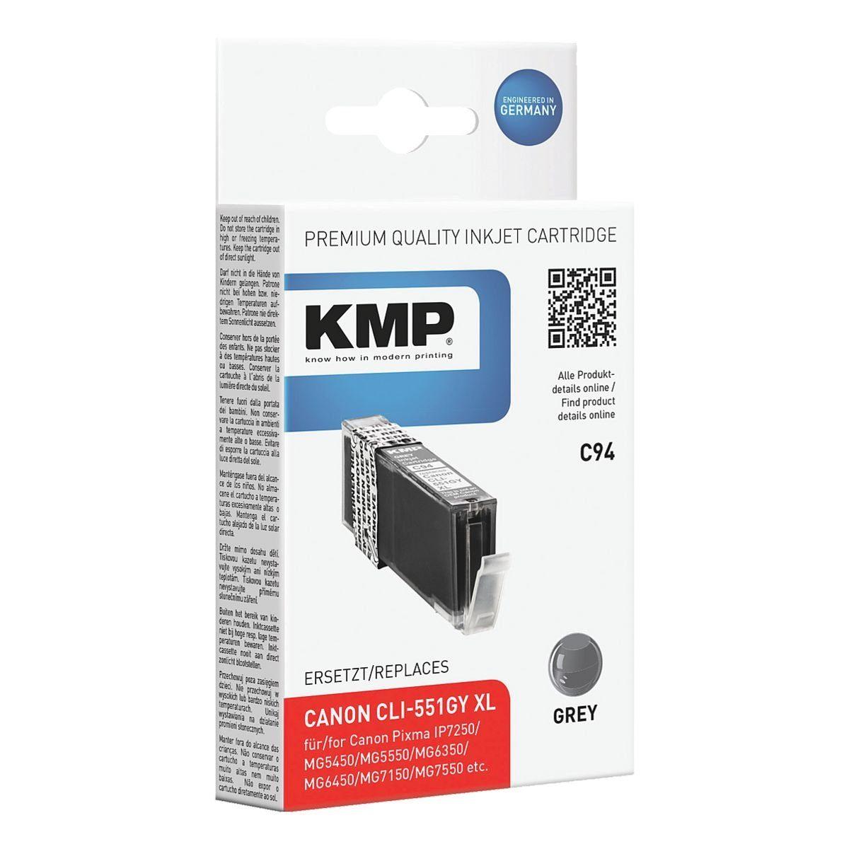 KMP Tintenpatrone ersetzt Canon »CLI-551GY XL«
