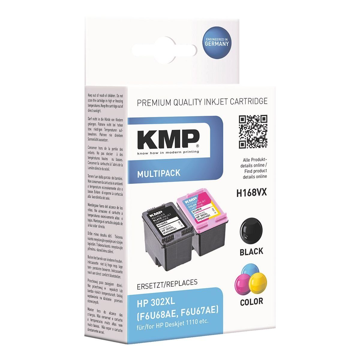 KMP Tintenpatronen-Set ersetzt »HP 302 XL«