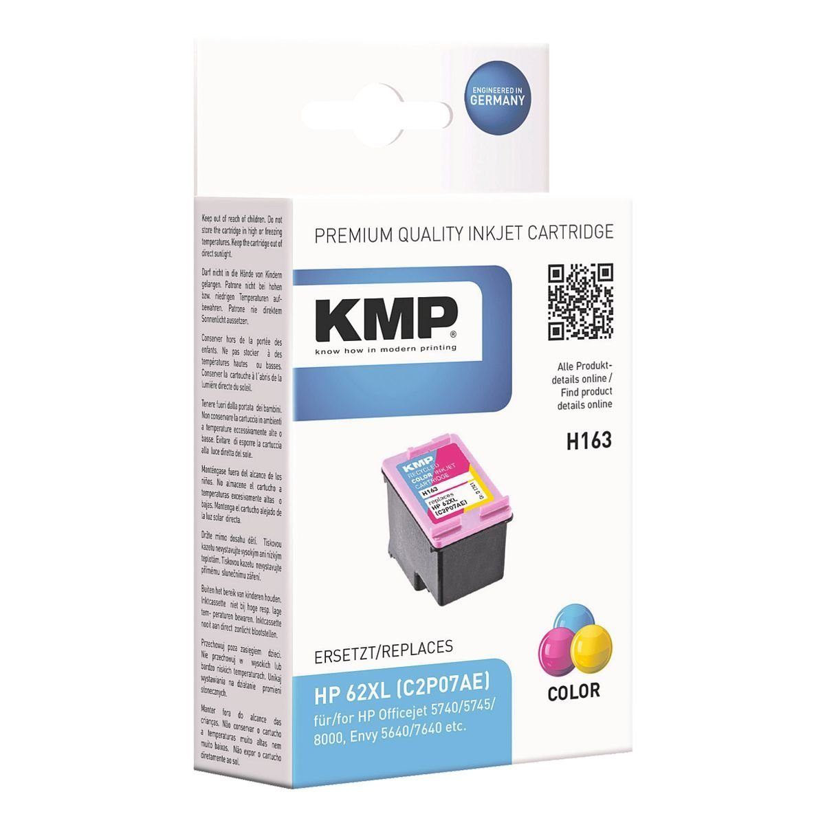 KMP Tintenpatrone H163 ersetzt Hewlett Packards »C2P07AE...
