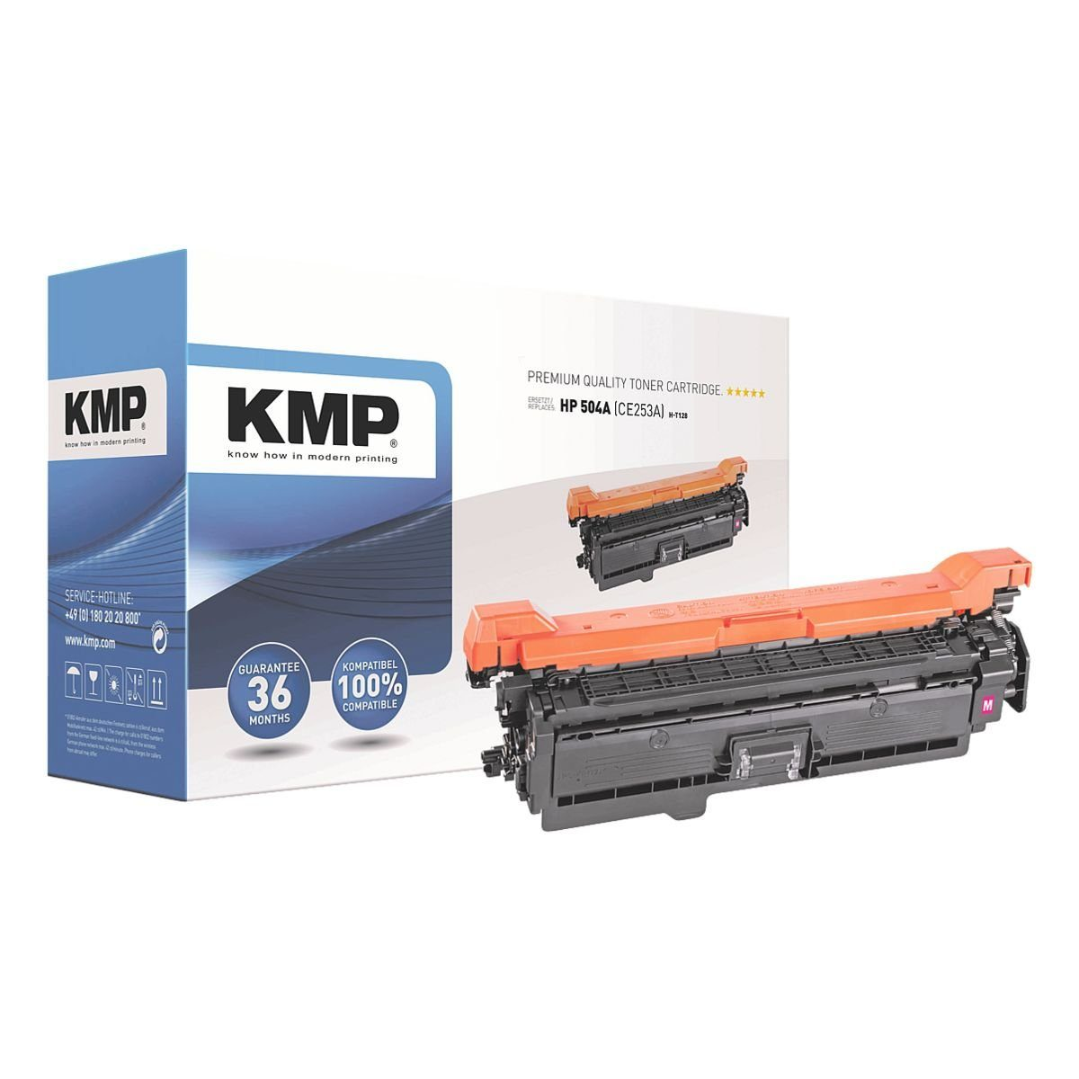 KMP Toner ersetzt HP »CE253A« 504A