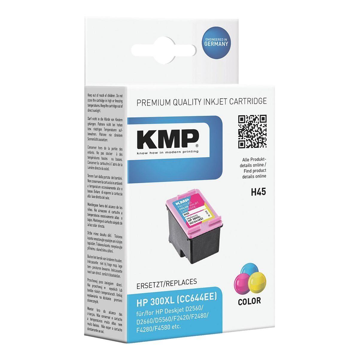 KMP Tintenpatrone ersetzt Hewlett Packards »CC644EE« Nr...