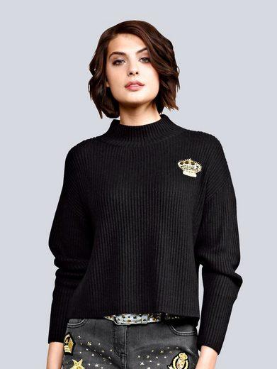 Alba Moda Pullover mit Stickerei
