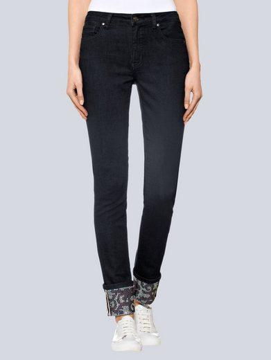 Alba Moda Jeans mit Aufschlag am Saum