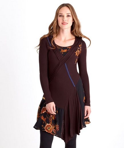 Joe Browns Druckkleid Joe Browns Womens Long Sleeved Everyday Wrap Dress