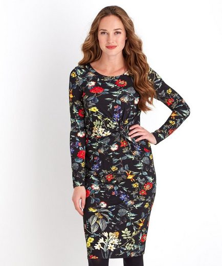 Joe Browns Druckkleid Joe Browns Women's Long Sleeved Floral Dress with side gathering detail