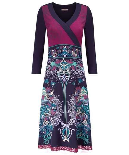 Joe Browns Druckkleid Joe Browns Women's Long Sleeved V Neck Dress with Pattern detail