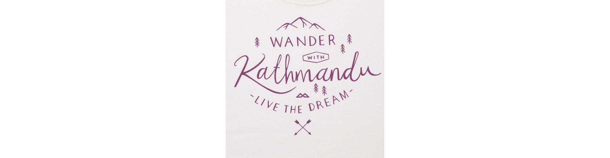 Kathmandu f眉r Shirt Schriftzug T Damen mit f眉r T Shirt Kathmandu Shirt Schriftzug mit Damen T Kathmandu aUdpa